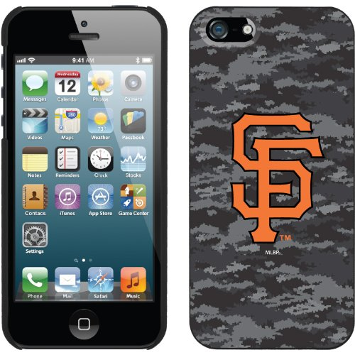 Best Price San Francisco Giants - Digi Camo Color design on a Black iPhone 5s / 5 Thinshield Snap-On Case by Coveroo