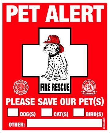Pet Safety Alert 234001 2-Count Static Cling Window Decal For Pets front-581772