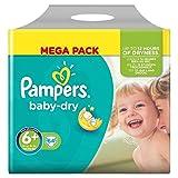 Pampers Baby Dry Pañales, tamaño 6, mega pack, 62 unidades