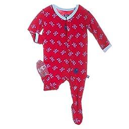 Kickee Pants Baby Boys Print Footie (Preemie, Balloon Jacks)