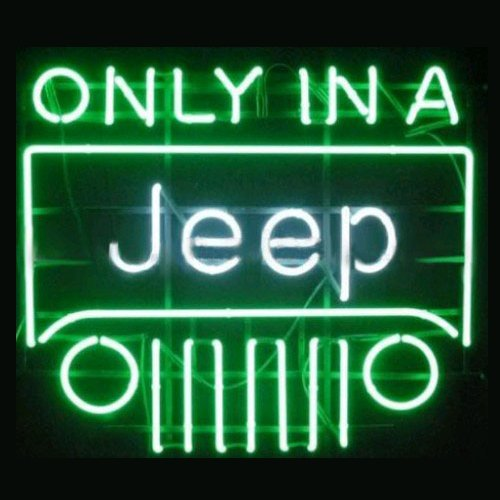 "New Only in a Jeep Neon Light Sign Home Beer Bar Pub Recreation Room Game Room Windows Garage Wall Sign 17w""x 14""h"