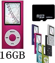 Btopllc Rose NOUVEAU Lecteur MP4/MP3-avec 16GB 16Go de carte Micro SD-1,81 Pouces TFT ecran lecteur audio, Audio Player, Media Player, Voice Recorder