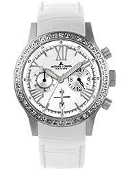 Women's Porto Chronograph 1-1527B White Leather