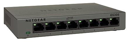 Netgear GS308-100PES Switch 8 Ports Gigabit 10/100/1000, Boitier Métal