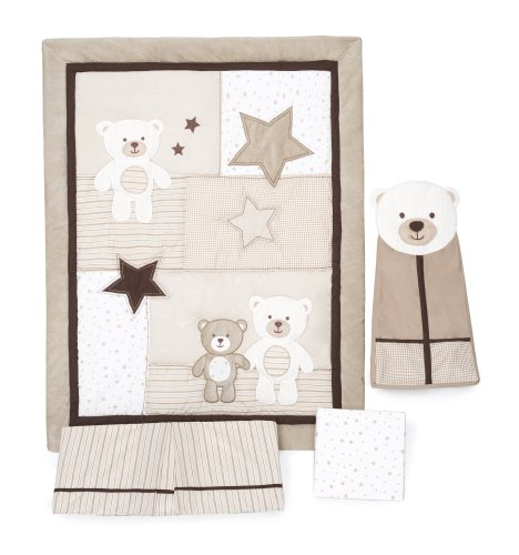 Kids Line C204BED Carter's Crib Bedding Set, Baby Bear, 4-Piece
