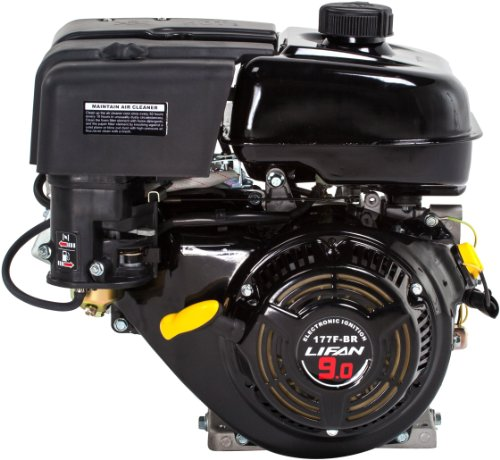 Lifan Lf177F-Bhq 9 Hp 270Cc 4-Stroke Ohv Industrial Grade Gas Engine With 6:1 Gear Reduction, Recoil Start And Universal Mounting Pattern