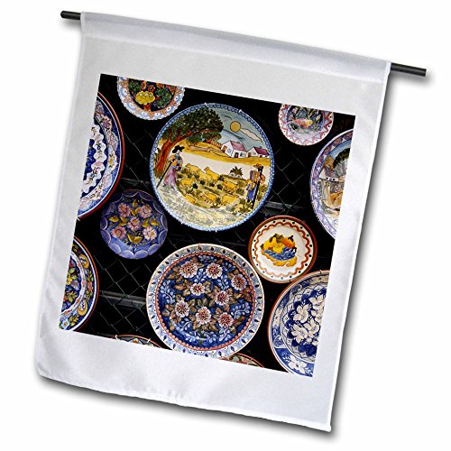 Danita Delimont – Objects – Portugal, Algarve, Monchique, Design crockery for sale. – 12 x 18 inch Garden Flag (fl_208326_1)
