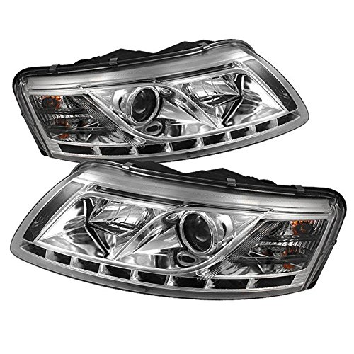Spyder Non-Hid Non Quattro With Afs Drl Led Chrome Projector Headlights Audi A6 05-07