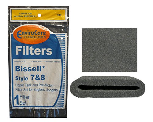 1 Set of Bissell Type or Style 7 / 8 / 14 Foam Vacuum Cleaner Filter 3093, 3290 Kit 1 Upper Tank Filter, 1 Premotor Filter (Bissell Lift Off Pet Parts compare prices)