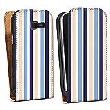 Samsung Galaxy Trend Duos S7392 Downflip Bag white - Maritime Streifen