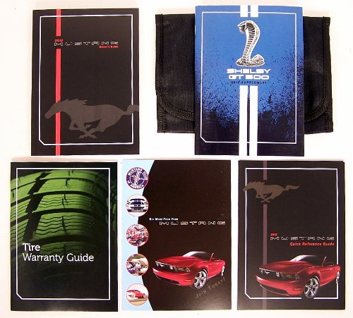 2012 Ford Mustang Shelby GT500 Owners Manual Guide Book (2012 Ford Mustang Owners Manual compare prices)
