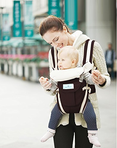 Baby-Carrier-by-Brighter-Elements-BEST-for-Infant-Toddler-Child-4-Carrying-Positions-Lightweight-Ergonomic-Carriers-For-Moms-Dads-Flexible-100-Cotton