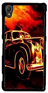 inktree Back Cover For Sony xperia Z3 (Black, ink_Z3_366)