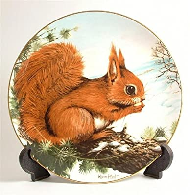 Crown Staffordshire Early Awakening from Wildlife in Winter by Kevin Platt Squirrel plate CP236