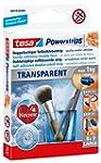 tesa Powerstrips Strips TRANSPARENT,...