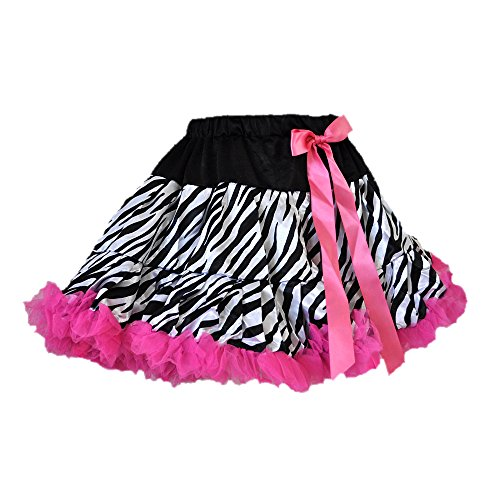 Zebra Print Tutu 2 Layers w/Hot Pink Tulle