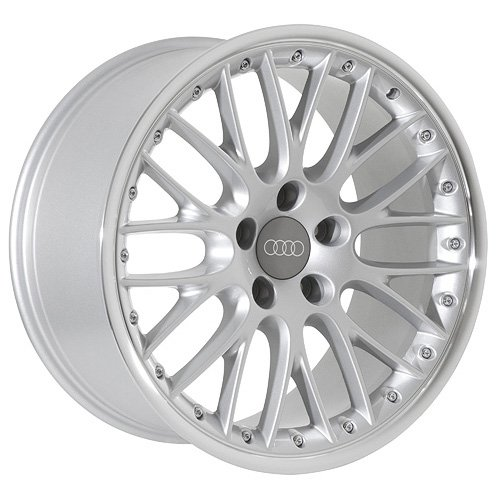 18 Audi Wheels Rims Silver  Polished Lip (set