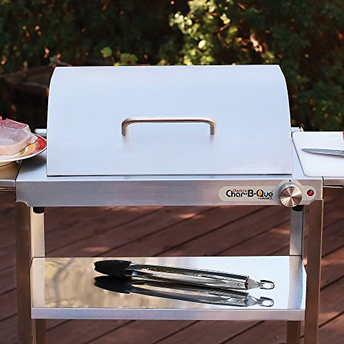 Stainless Steel Hinged Hood for Maverick Char-B-Que Electric Infrared Indoor/Outdoor Grill
