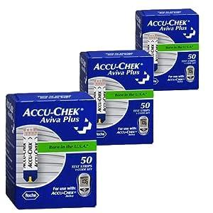 Accu-Chek Aviva Plus Glucose Test Strips (150 Count)
