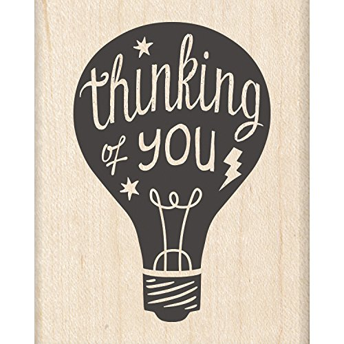 "Inkadinkado Thinking of You Mounted Rubber Stamp, 2"" by 2.5"" - 1"