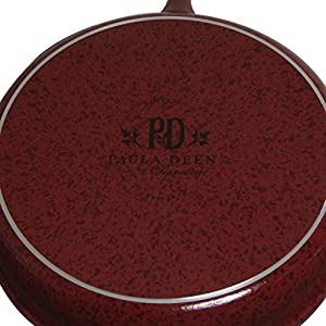 Paula Deen Red Speckle Porcelain 9-inch and 11-inch Twin Pack Skillets