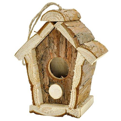 Gardirect Log Cabin For Bird Natural Wooden Bird House
