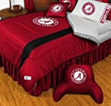Alabama Crimson Tide NCAA Bedding - Sidelines Comforter and Sheet Set Combo - Full