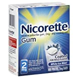 Nicorette Stop Smoking Aid White Ice Gum 2 Mg 100 Ct.