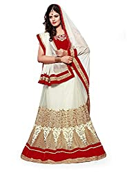Dlines White Coloured Designer Lehenga Choli