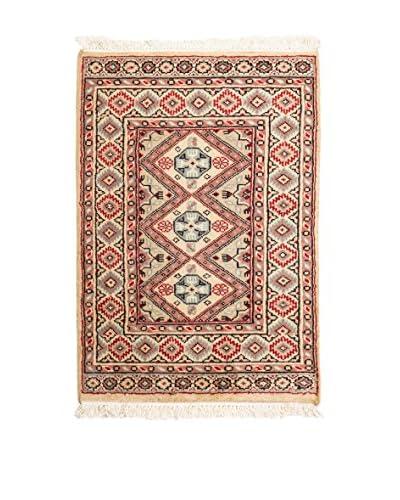 QURAMA Teppich Kashmir pfirsich/mehrfarbig 92 x 62 cm