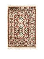 QURAMA Alfombra Kashmir Melocotón/Multicolor 92 x 62 cm