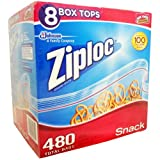 Ziploc Pack 4 Count Snack Bags - Case Pack of 3