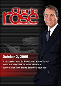 Charlie Rose with Ed Rollins & Susan Estrich; Elaine Sciolino (October 2, 2000)