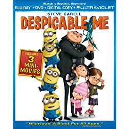 Despicable Me (Blu-ray + DVD + Digital Copy + UltraViolet)