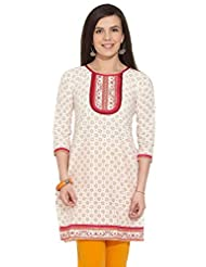 LOVELY LADY Ladies Cotton EMBROIDERED KURTA - B00NNPSARO