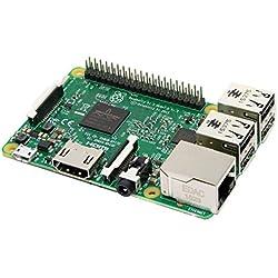 Raspberry Pi 3 modelo B - Barebón de sobremesa (Quad-Core, 1.2 GHz, 1 GB RAM, USB 2.0, Bluetooth 4.0, Wi-Fi), color verde