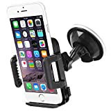 Bestwe 360°Rotation Universal Car Windshield Suction Mount Holder for Samsung Galaxy S5 Mini S4, iPhone 6 5s, HTC One M8 Mini2, Nokia lumia 930 635, Sony Xperia Z2, Motorola Moto E, LG G3 and the other GPS devices