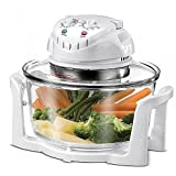 HALOGEN OVEN - MULTIFUNCTIONAL EASY, HEALTHY and FAST COOKING - ROAST, GRILL, BAKE, BBQ, FRY - An ALL IN ONE cooking solution with this 12 Litre 1.2 Kw HALOGEN OVEN (in White)