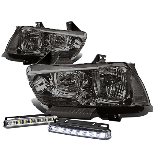 SRT Charger LX Smoke Lens Clear Corner Headlight+DRL 8 LED Fog Light (2014 Dodge Charger Halo Lights compare prices)