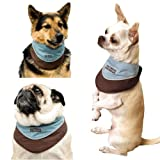 Kyjen Outward Hound Designer Cool-It Bandana, Large, Blue