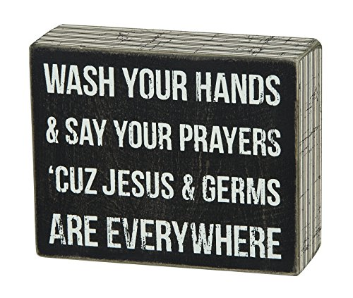 New Rustic Germs and Jesus Sign Primitives by Kathy Box Sign