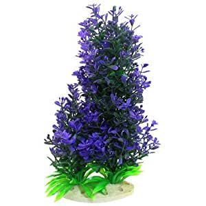 9.4Height Purple Green Plastic Simulation Aquatic Plant for Aquarium Fish Tank