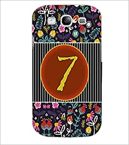 PrintDhaba Numerology Number 7 D-3094 Back Case Cover for SAMSUNG GALAXY S3 (Multi-Coloured)