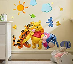 wall decals quotes family making memories : Environmental Removable Cartoon Children Room Wall Stickers Winnie the pooh