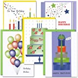 Birthday Cards: Celebration Assortment - 2 each of 5 designs, box of 10 cards & 12 envelopes