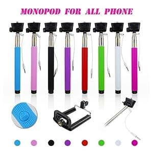 Tuzech Automatic Inbuilt Button Cable Selfie Stick