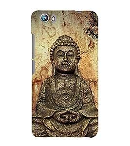 Gautam Buddha 3D Hard Polycarbonate Designer Back Case Cover for Micromax Canvas Fire 4 A107