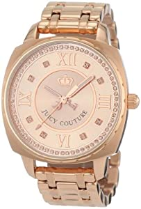 Juicy Couture Women's 1900807 Beau Rose-gold Plated Bracelet Watch