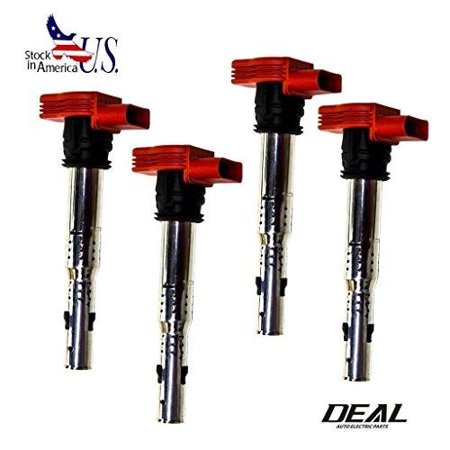 AutoCat Set of 4 Ignition Spark Coil Plug Pack for Audi V6 V8 V10 VW Touareg (Vw Msd Spark Plug Wires compare prices)