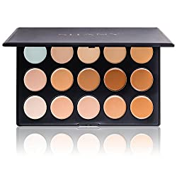 SHANY Cosmetics Professional Cream Foundation and Camouflage Concealer 15 Color Palette 13 Ounce